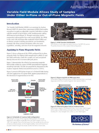 New Asylum Research AFM Accessory Enables Advanced Magnetics Research